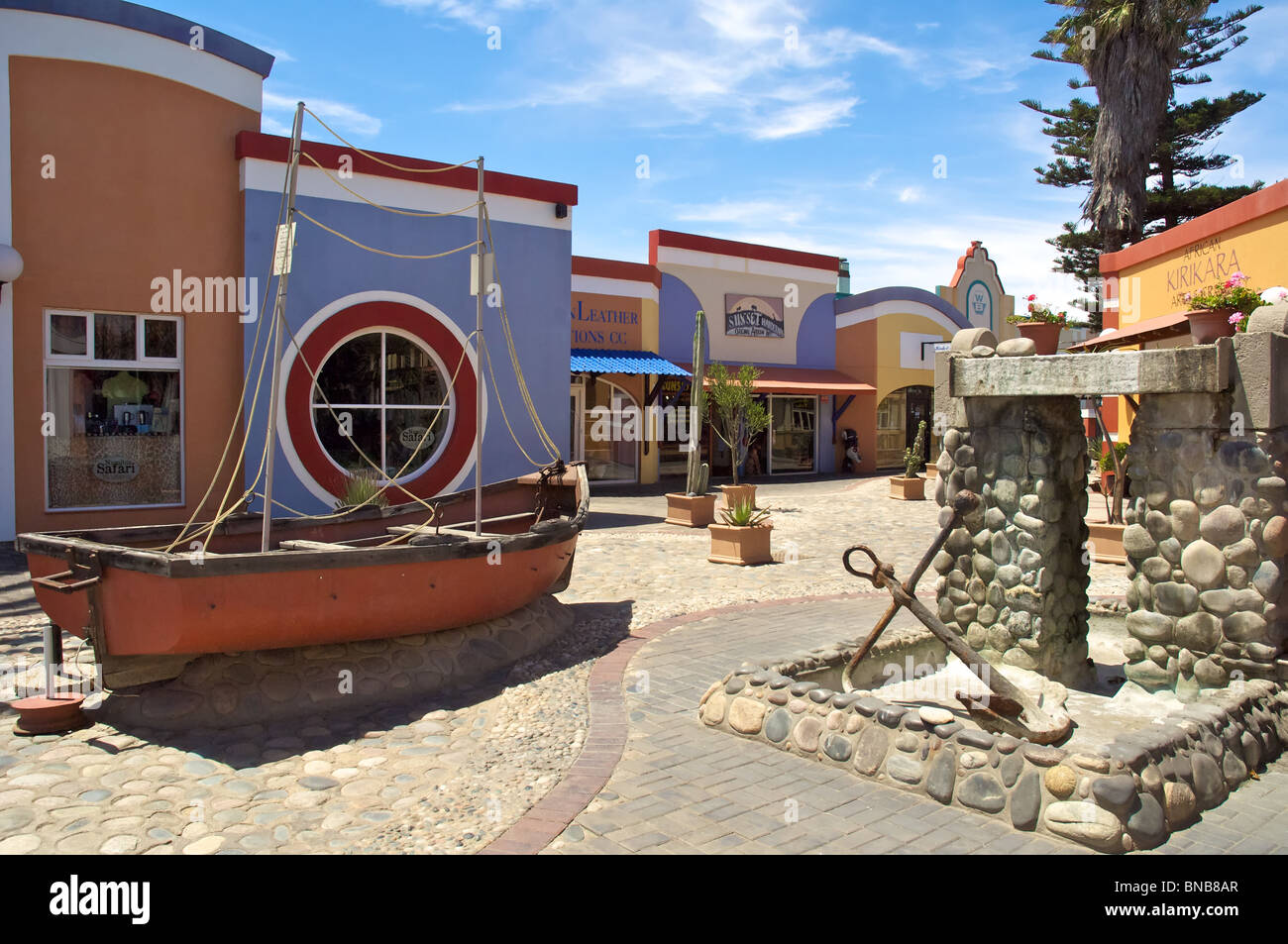 Swakopmund shopping centre - Stock Image