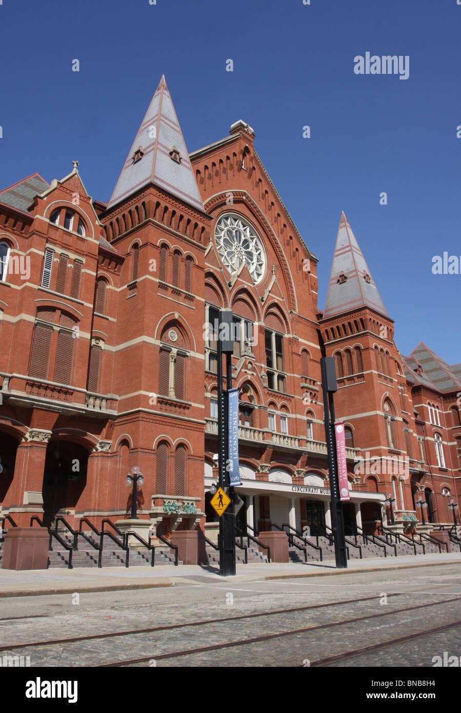 Music Hall downtown Cincinnati historic opera house Stock Photo