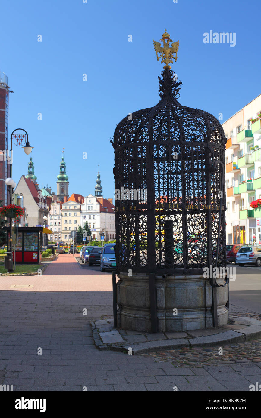 Nysa Historical well from sixteenth century Poland - Stock Image