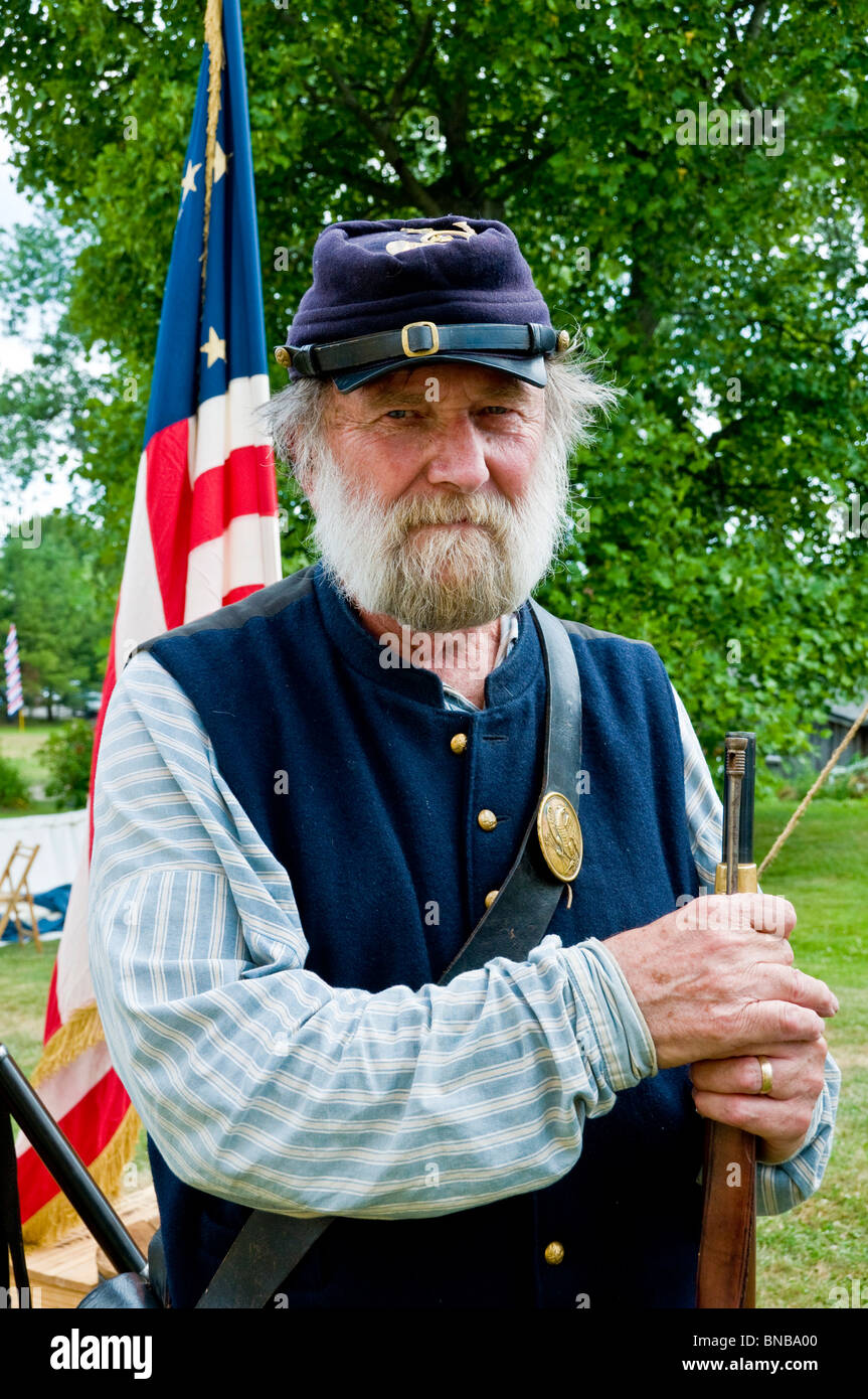 July 4th Reenactment Portsmouth New Hampshire - Stock Image