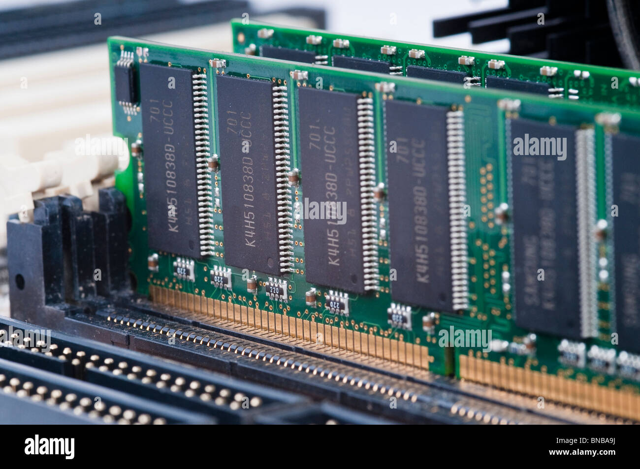 Macro, RAM memory in a personal computer, PC - Stock Image