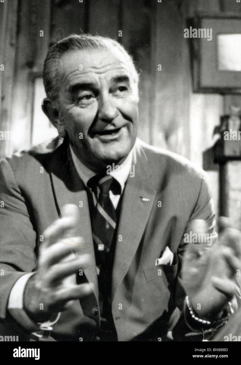 LYNDON B JOHNSON (1908-73) 36th President of the USA Stock Photo