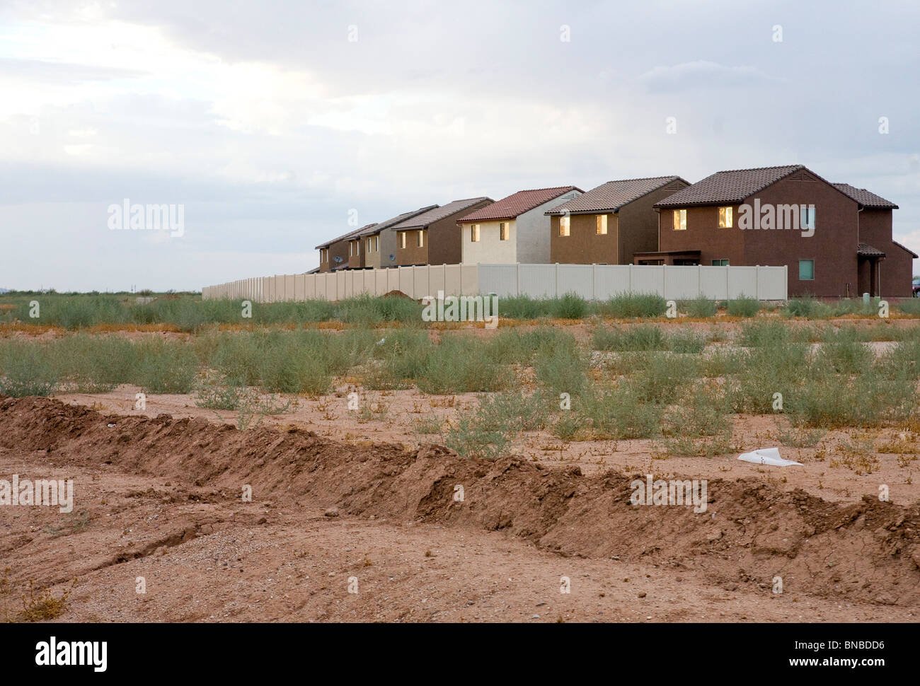 Unfinished and abandoned housing developments in the Phoenix, Arizona area.  - Stock Image
