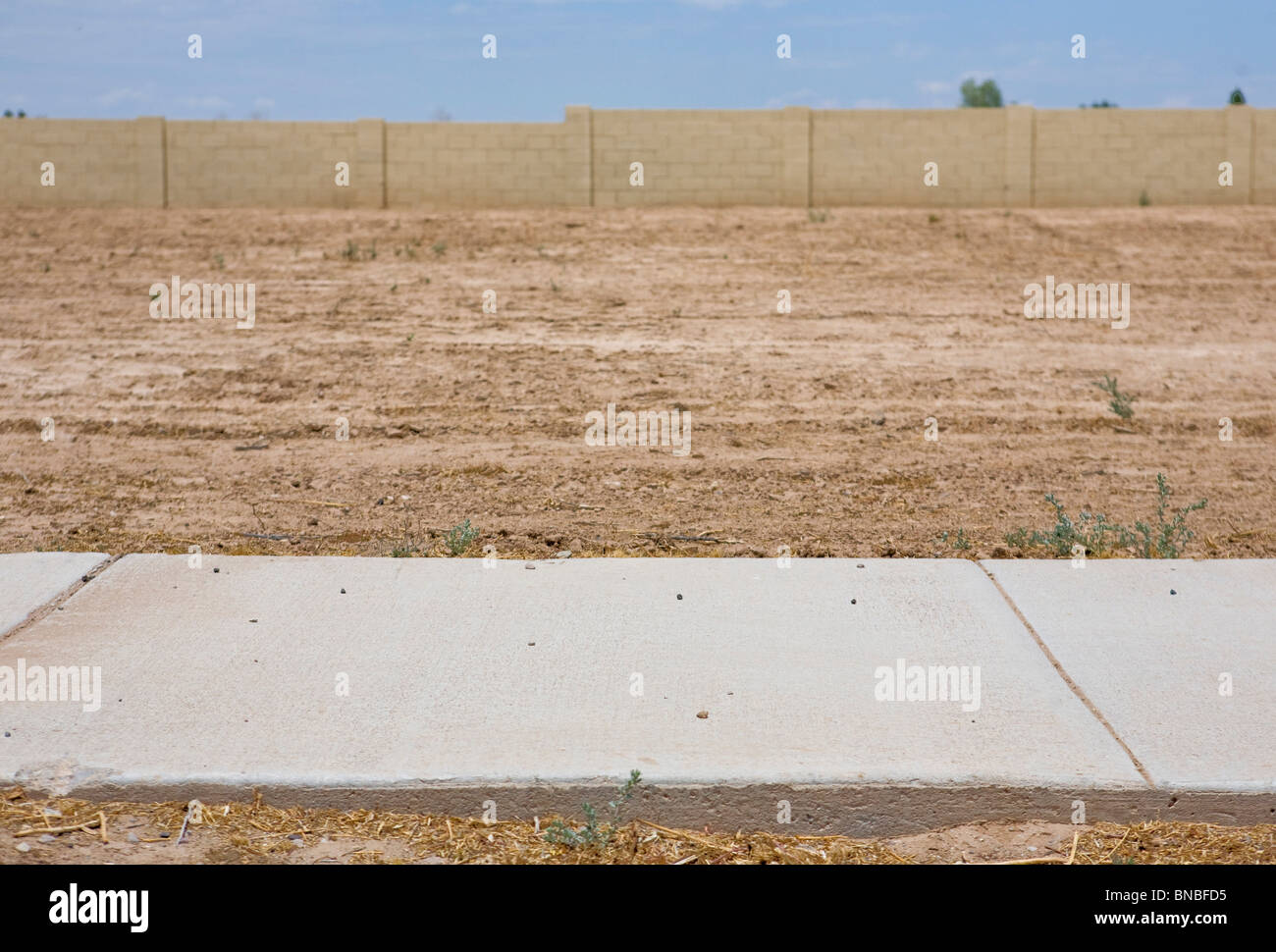 Unfinished and abandoned housing developments in the Phoenix, Arizona area.  - Stock Image
