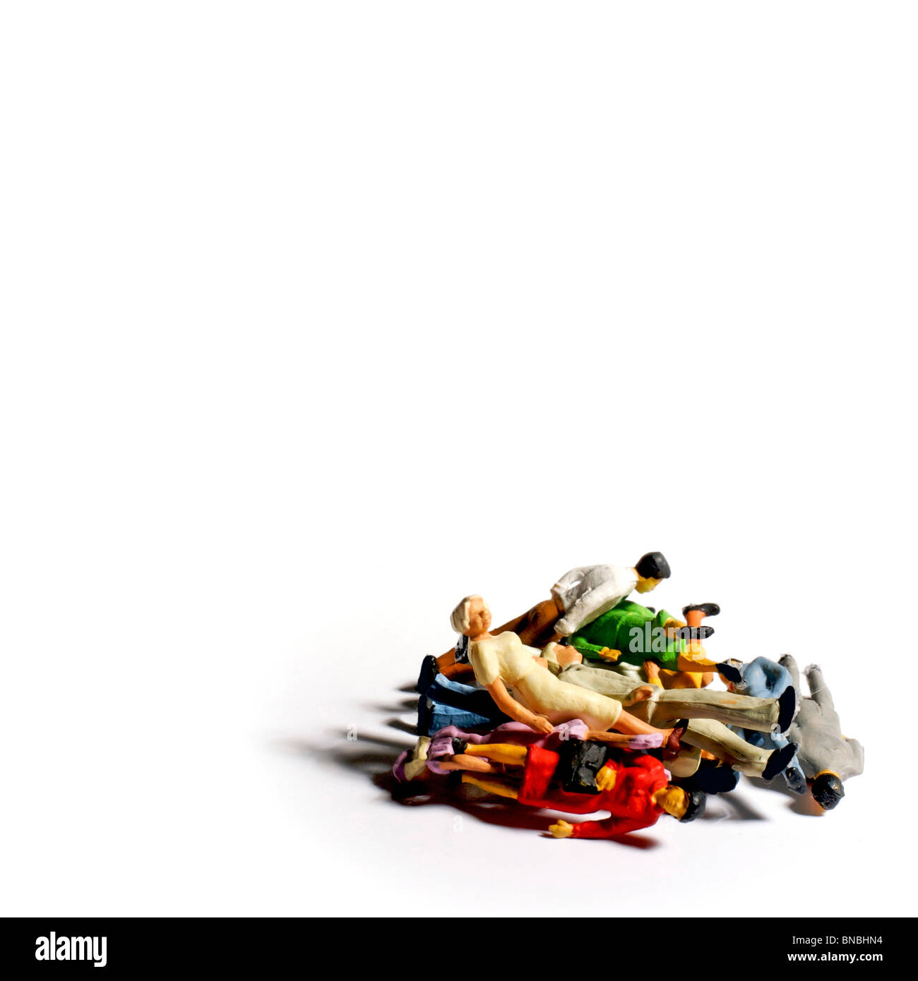 Pile of people - unemployment / exclusion concept - Stock Image