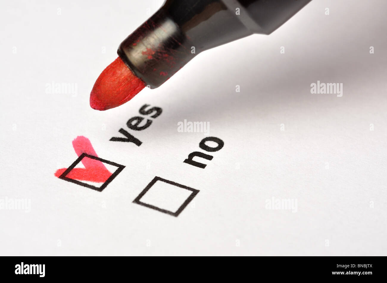 Yes or No - Stock Image