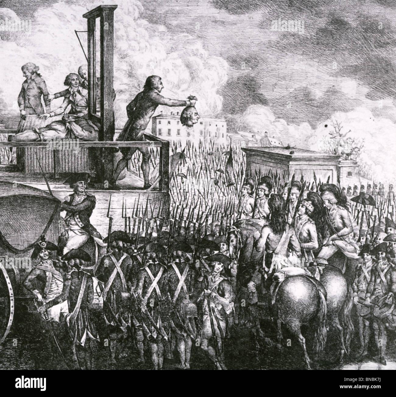 EXECUTION OF LOUIS XVI in Paris, 21 January 1793 - Stock Image