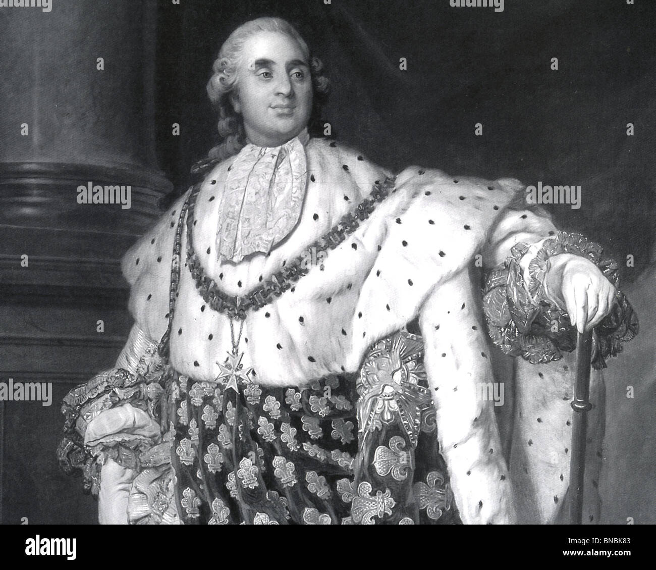 KING LOUIS XVI of France in his coronation robes - Stock Image