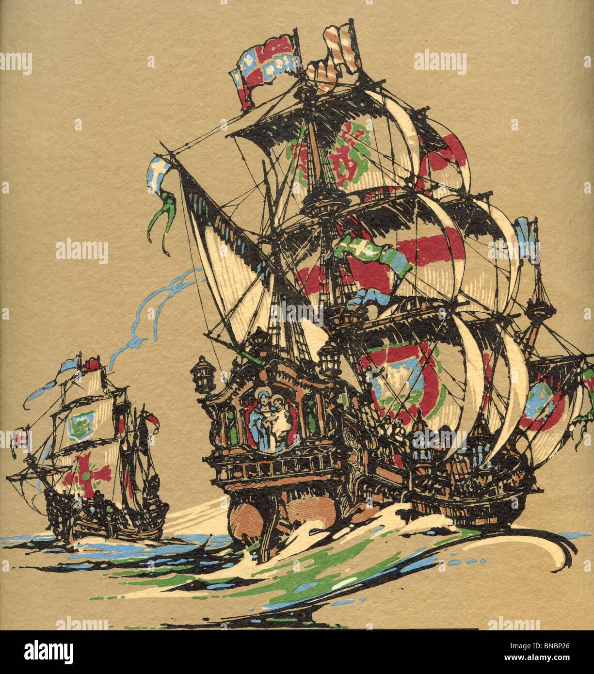 Battleships - Stock Image