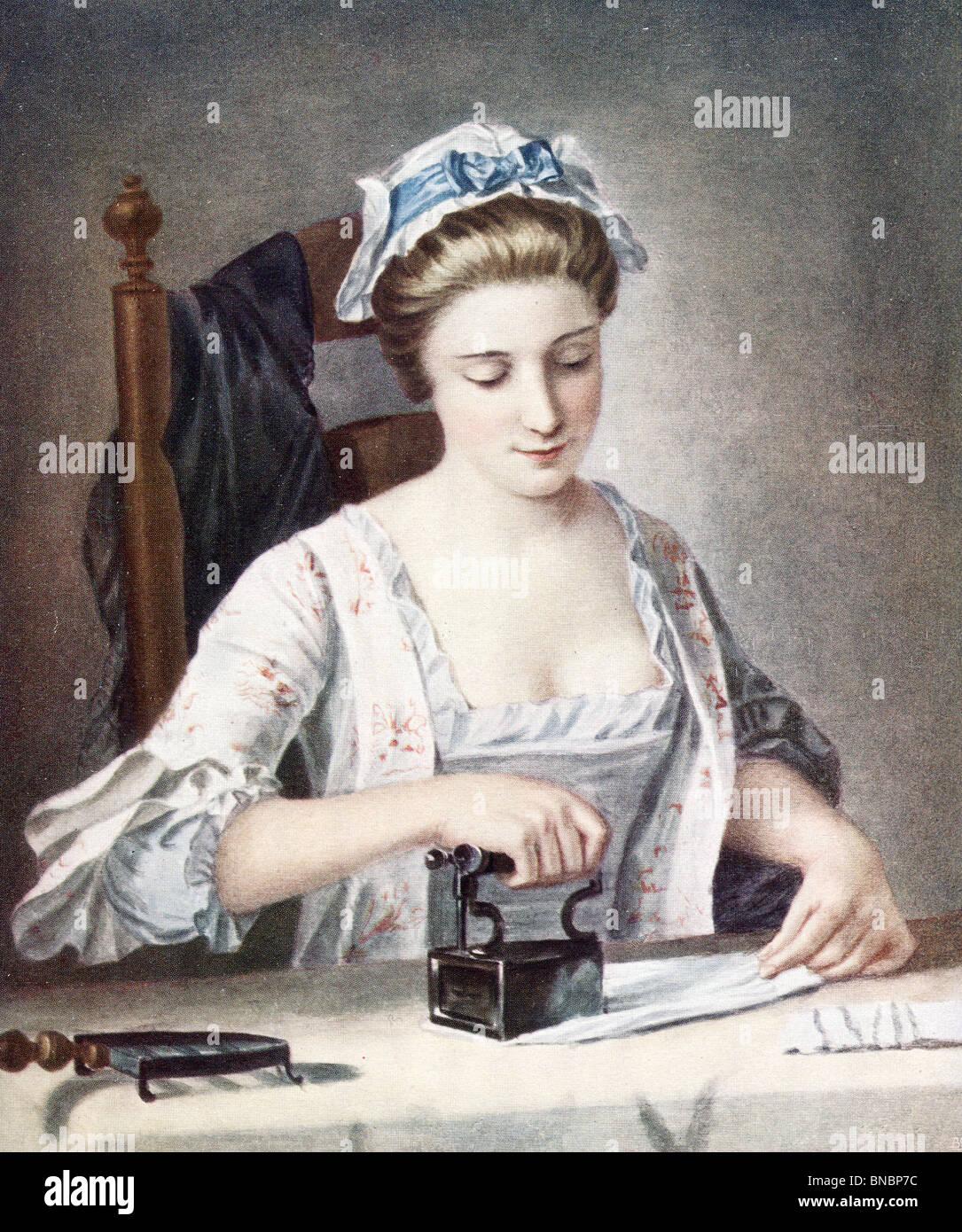 The Laundry Maid Stock Photo