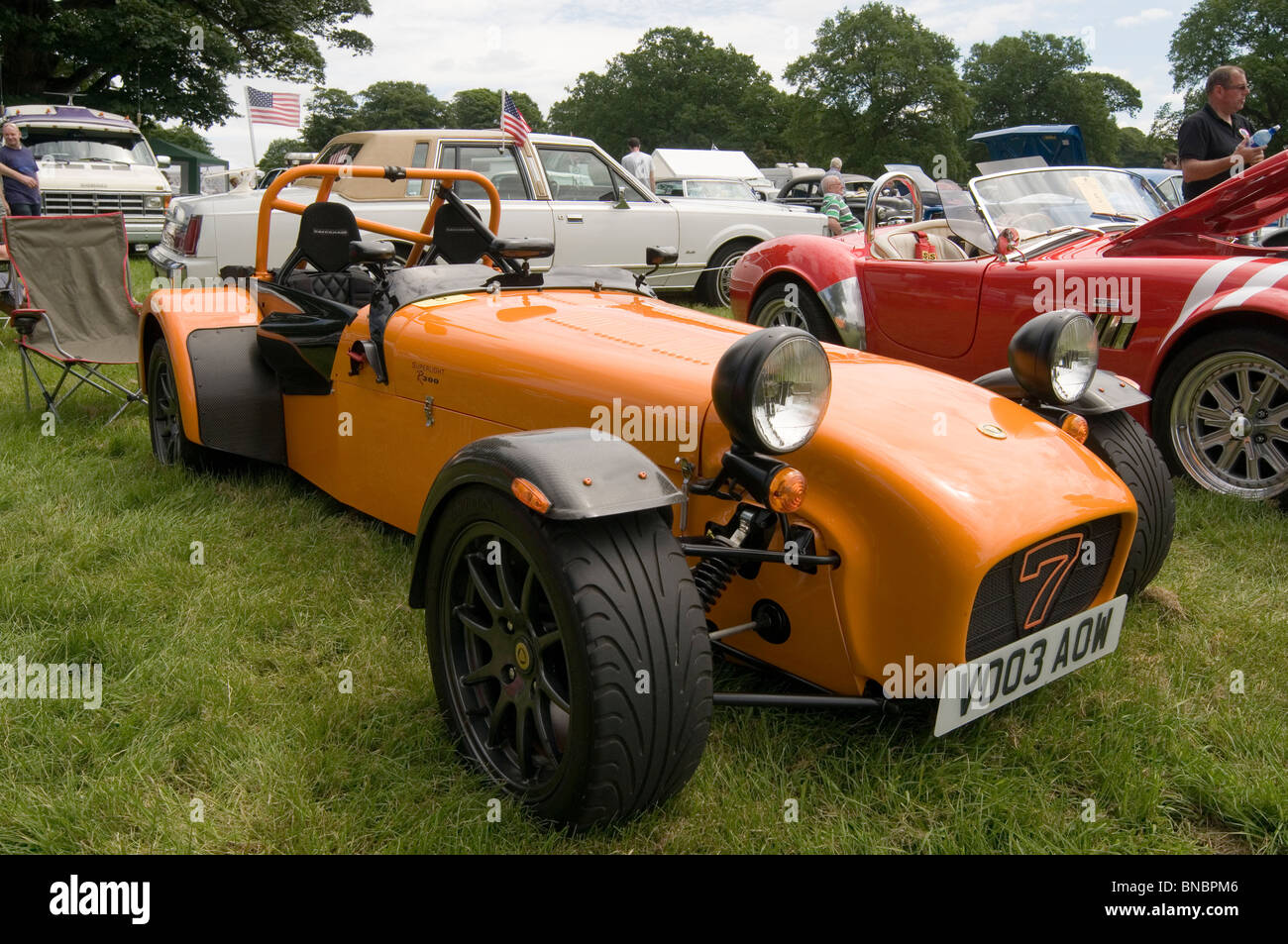 caterham 7 seven lotus light lightweight sport sports trackday track day classic car cars show shows showing competition - Stock Image