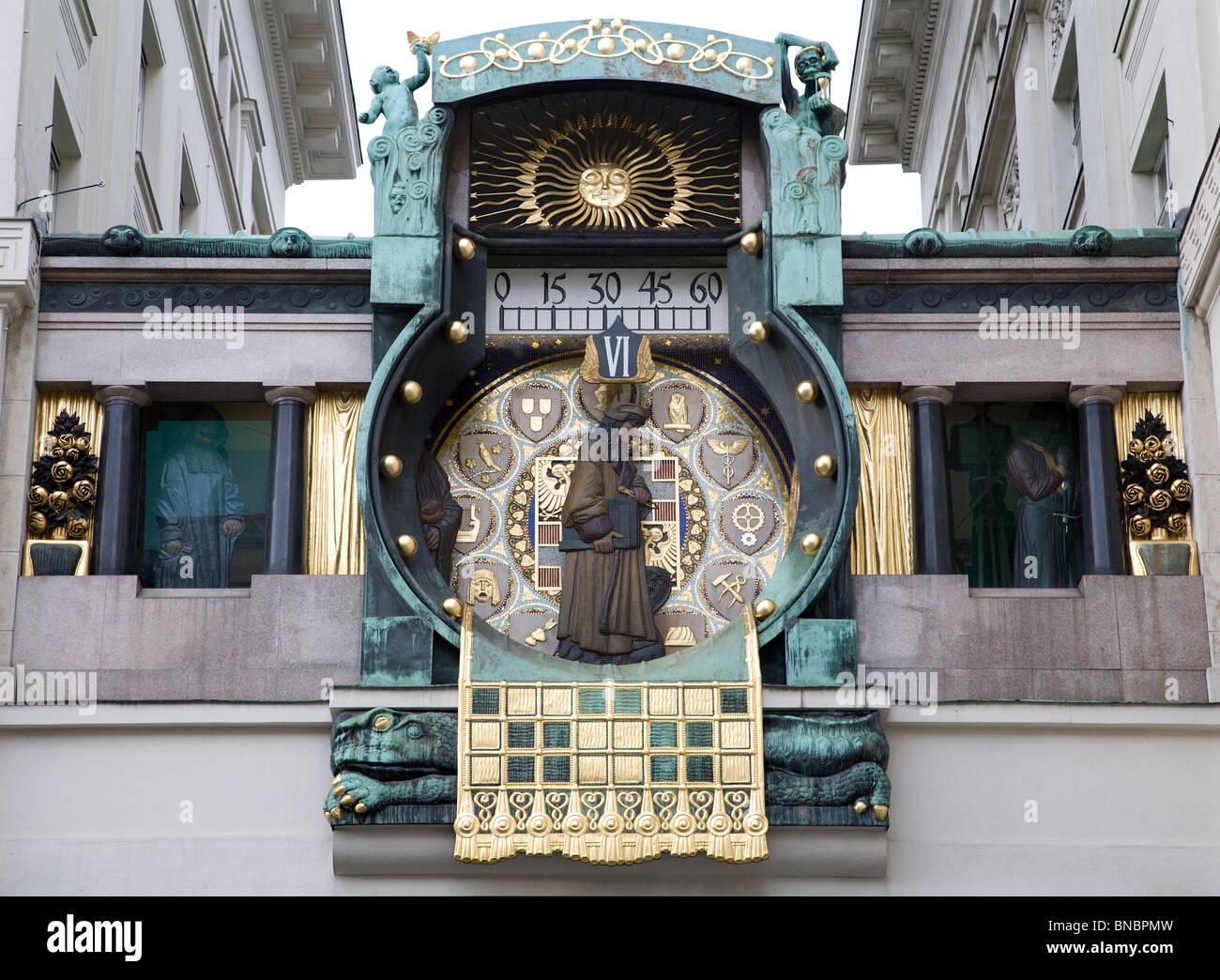 Vienna - tower-clock Stock Photo