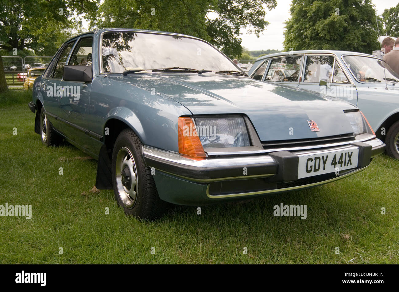 vauxhall carlton 1980's 80's repmobile general motors classic car cars show shows showing competition old - Stock Image
