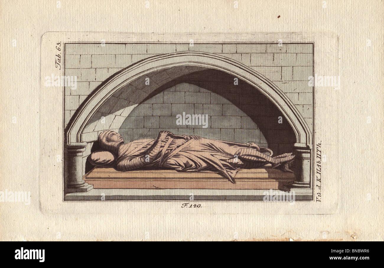Norman effigy from Danbury church - Stock Image
