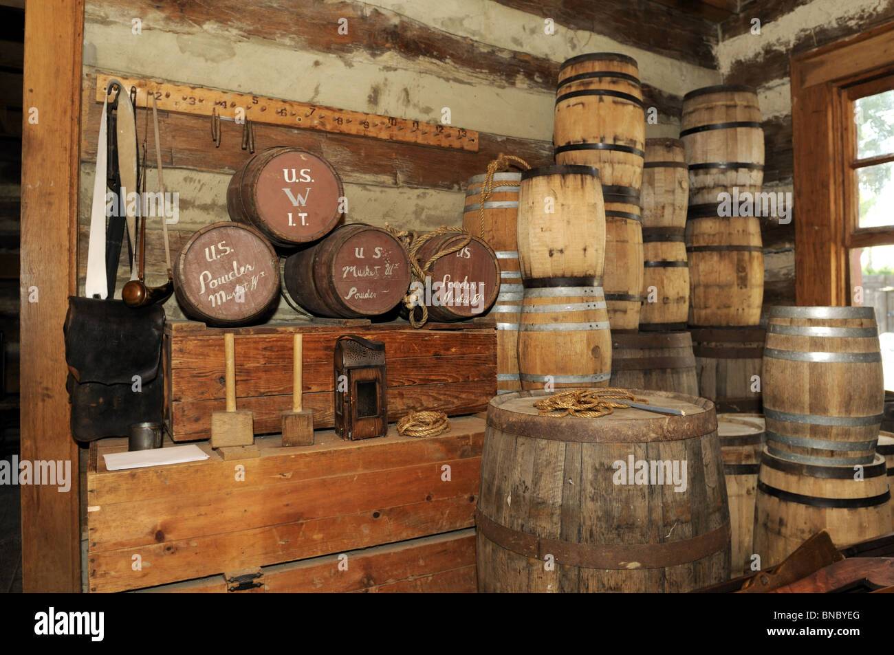 Black powder is stored in the Fort  Ammo and powder room Cir  1812