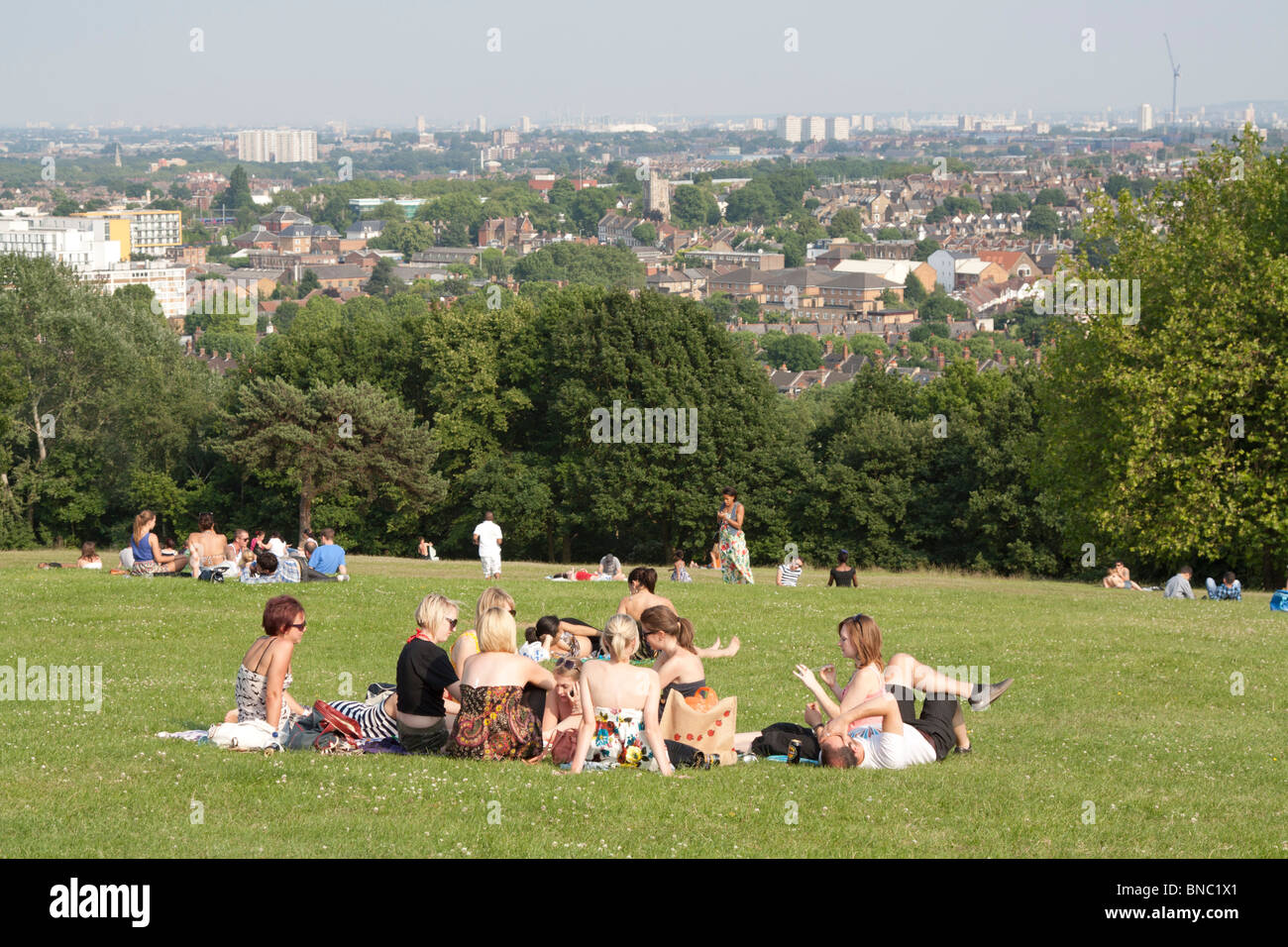 Views over London - Alexandra Park - Haringey. - Stock Image