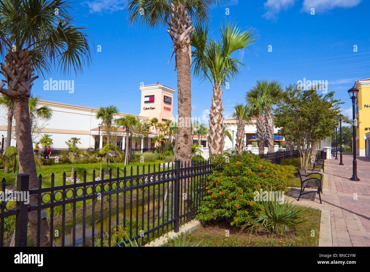 FLORIDA MALL IN EARLY MORNING malls - Stock Image