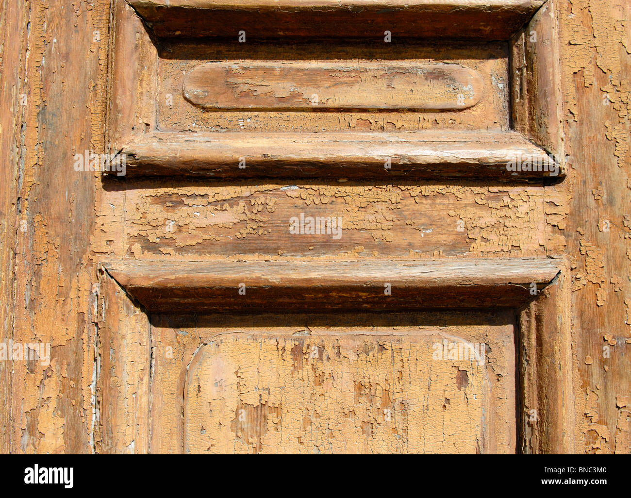 OLD WOODEN DOOR - Stock Image