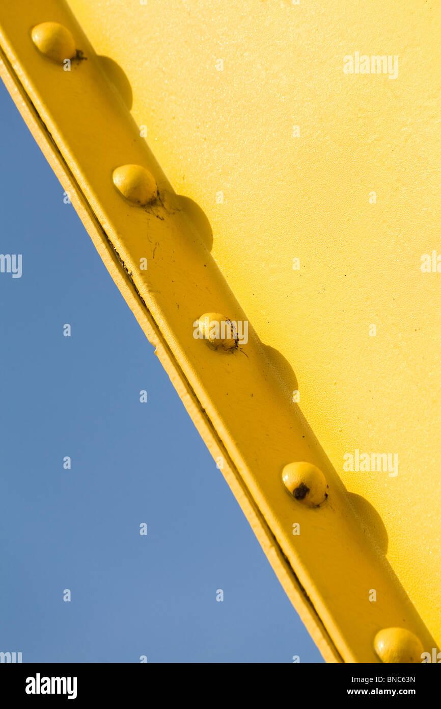 Yellow Girder Stock Photo
