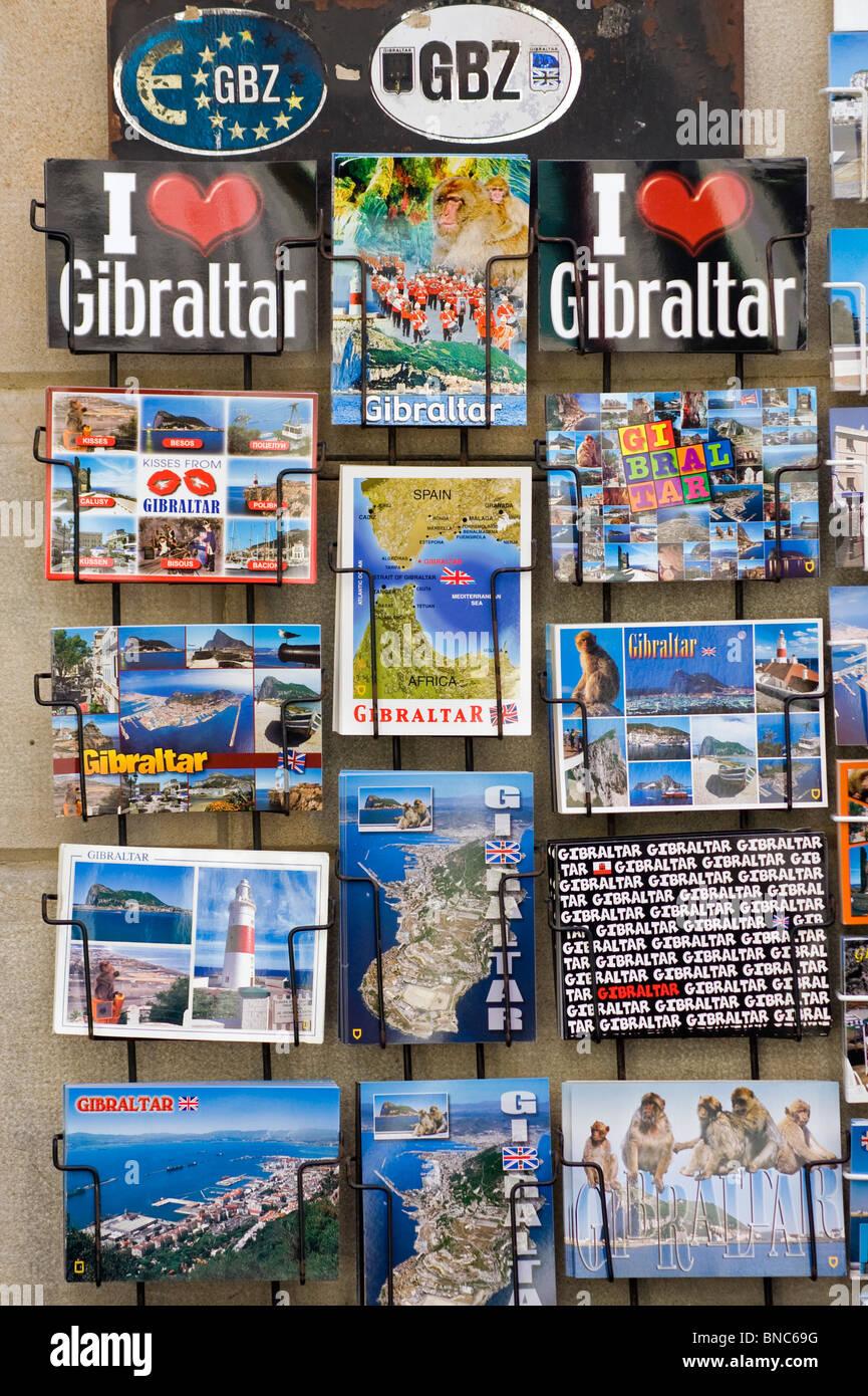 Gibraltar Postcards - Stock Image
