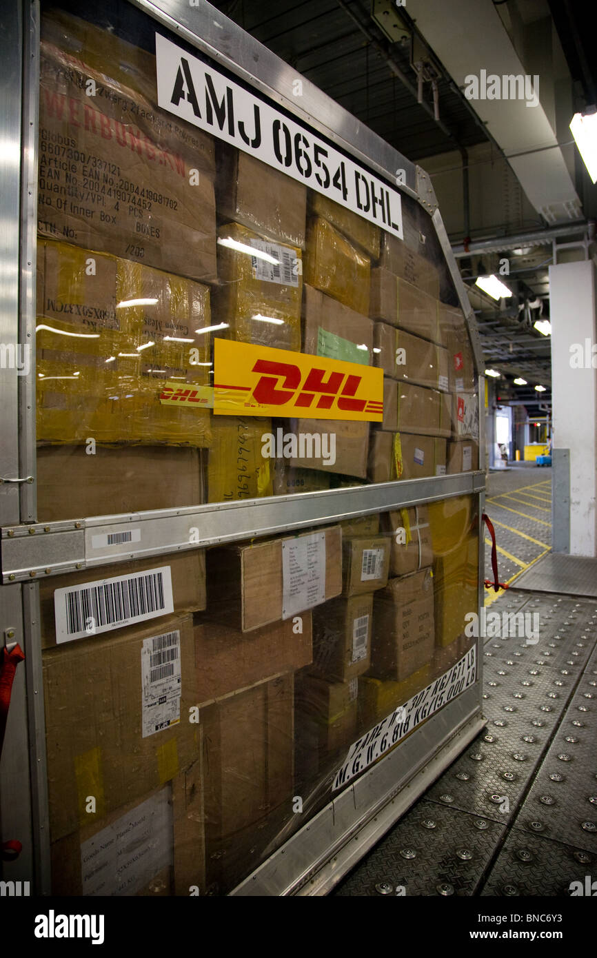 DHL logistics centre warehouse facility Hong Kong - Stock Image