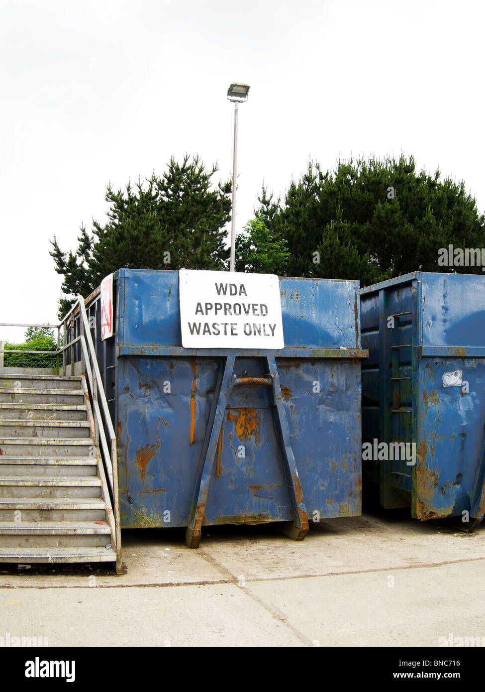 a local council run waste recycling centre near redruth in cornwall, uk - Stock Image