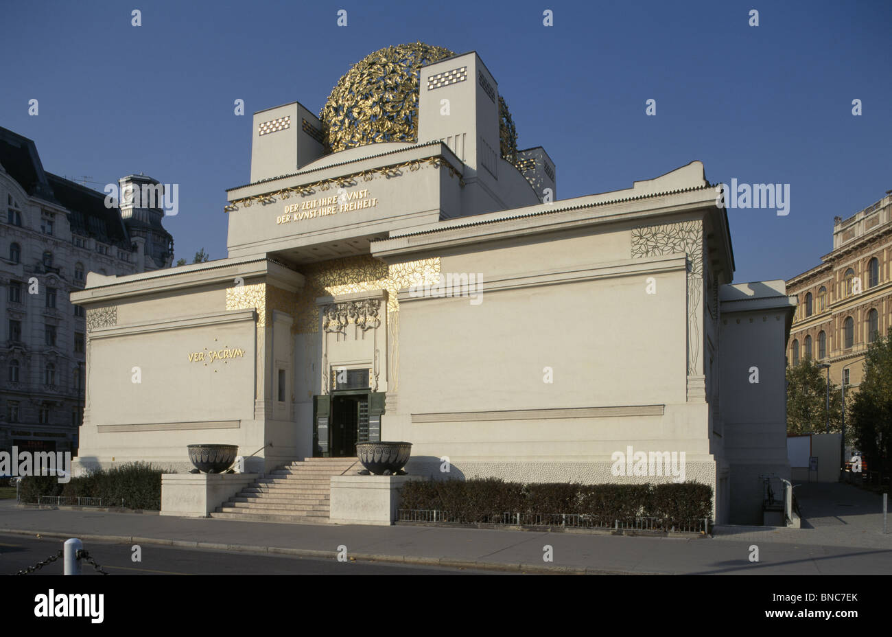 Secession (Sezession) Building Vienna, by J.M. Olbrich built 1897-8 as exhibition gallery for artists of the Vienna - Stock Image