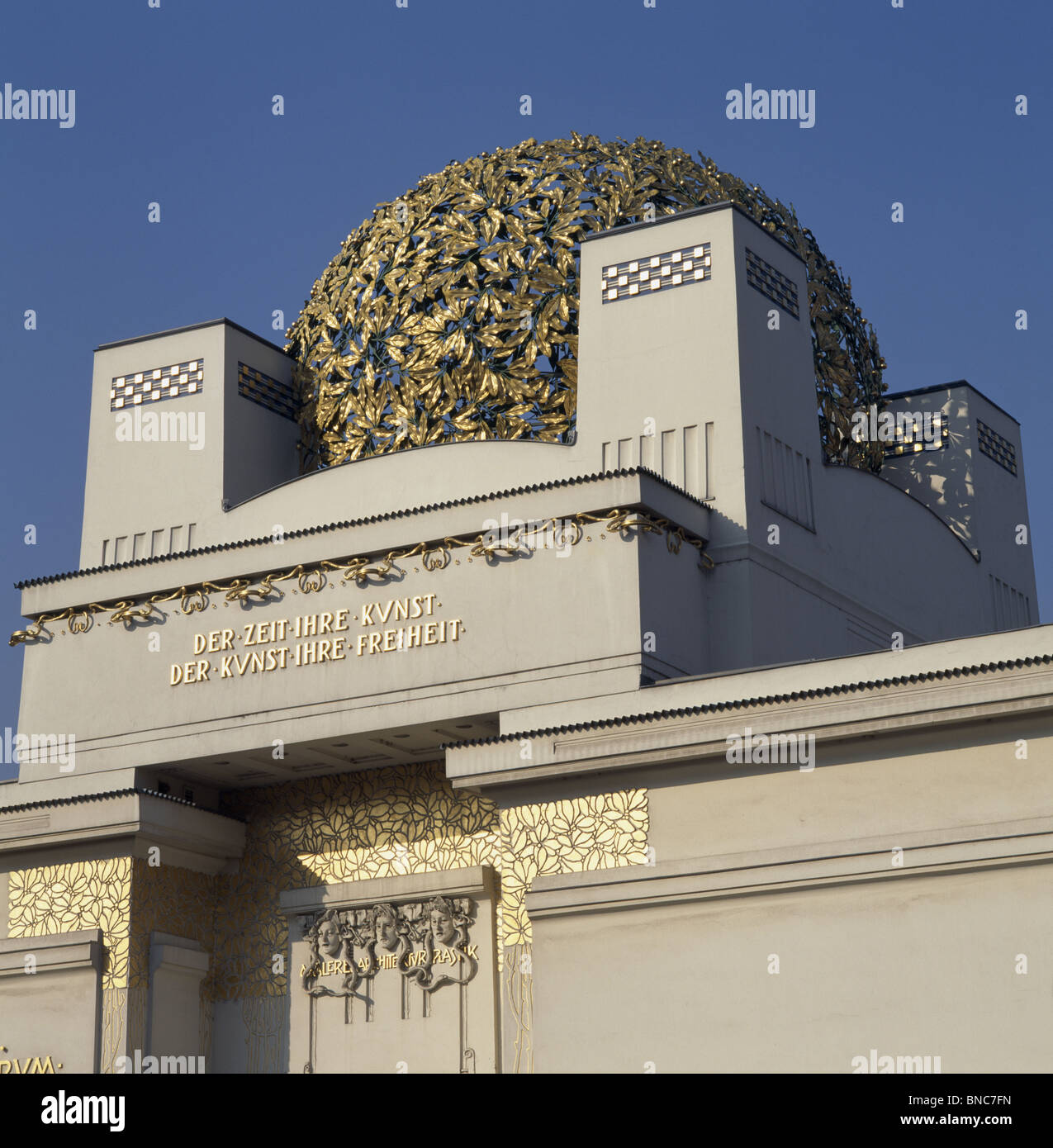 Secession (Sezession) Building Vienna by J.M. Olbrich built 1897-8. Exhibition gallery for artists of Vienna Secession. - Stock Image