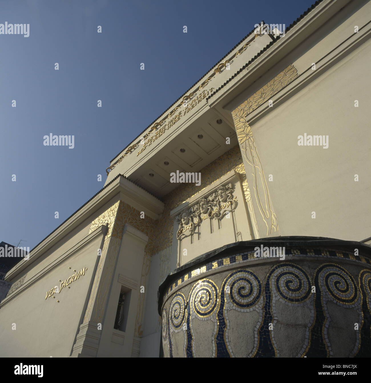 Secession (Sezession) Bldg Detail - Stock Image