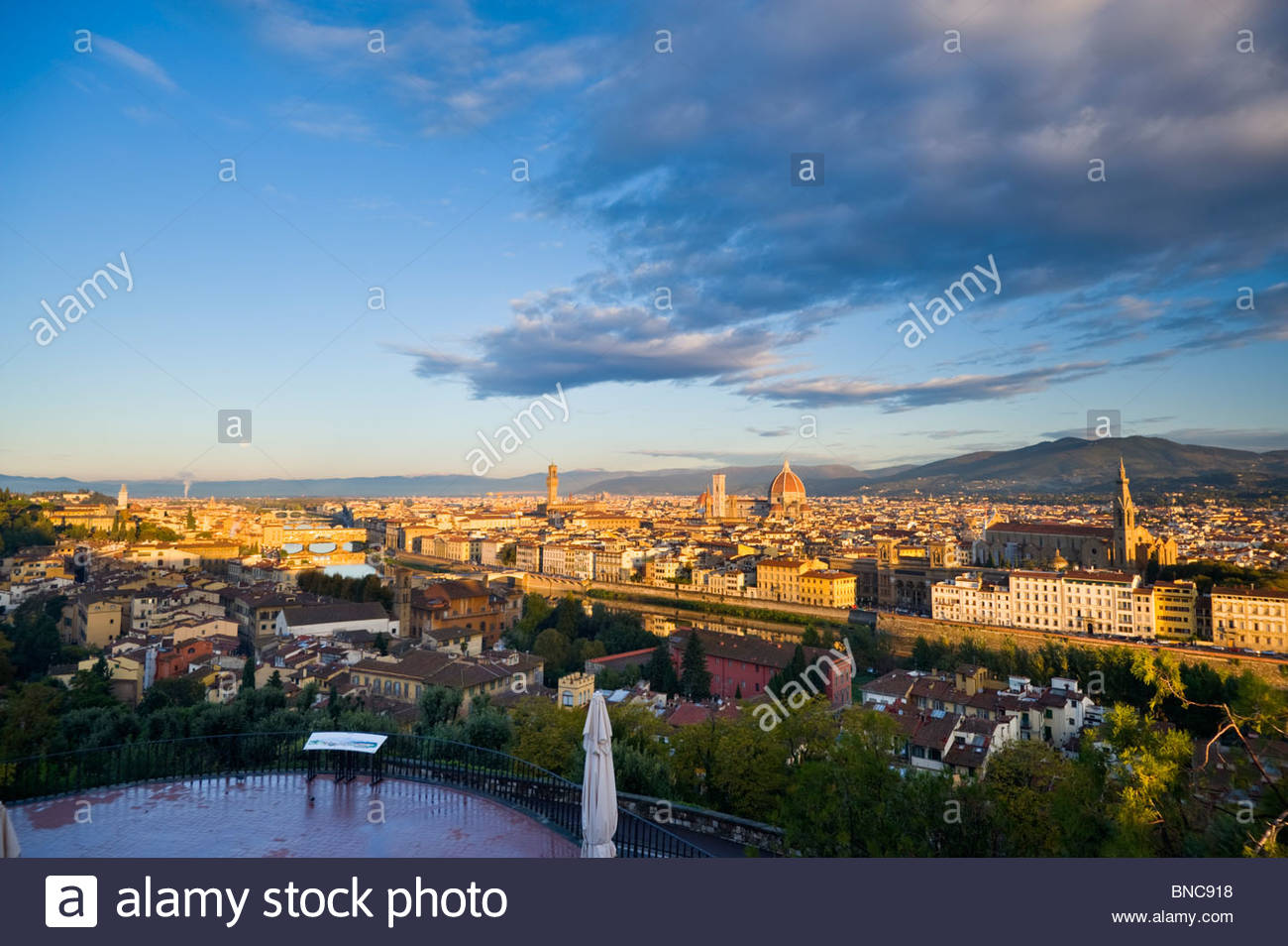 Florence from Piazza Michelangelo, Tuscany, Italy. - Stock Image