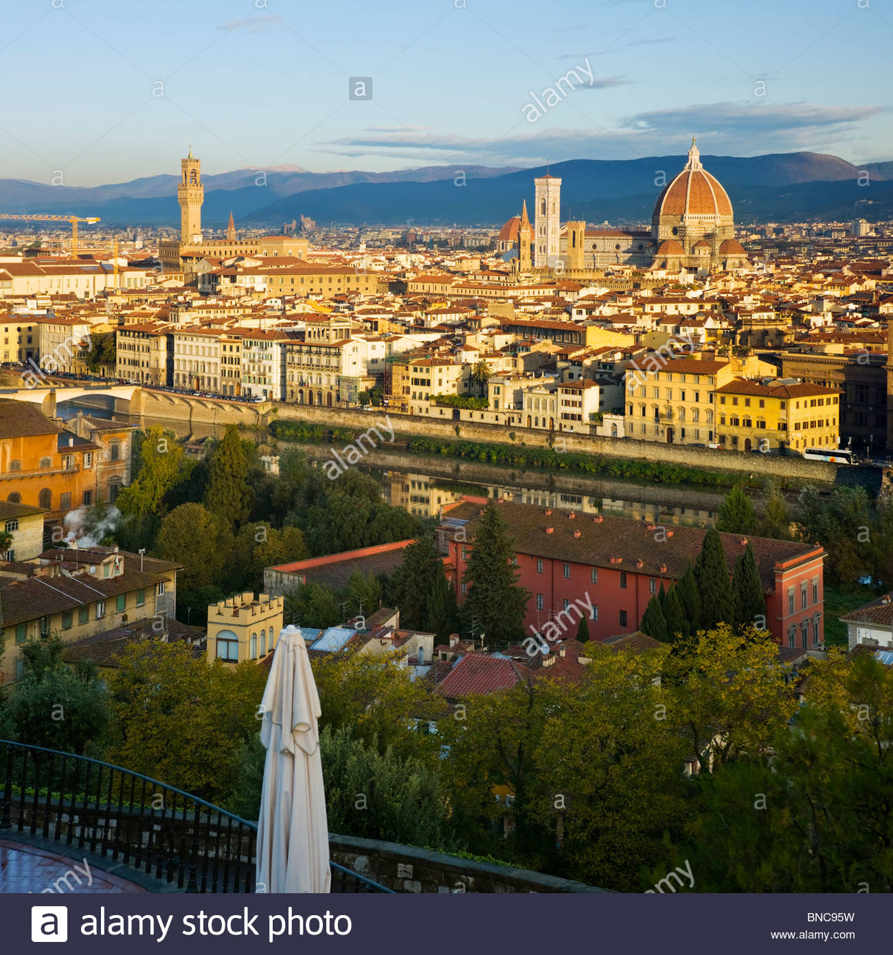 Florence skyline from Piazza Michelangelo, Tuscany, Italy. - Stock Image