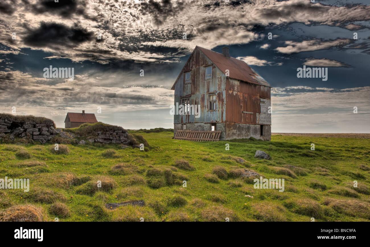Abandon farm house, Northern Iceland - Stock Image