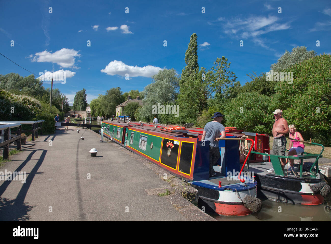 Stoke Bruerne Locks - Stock Image