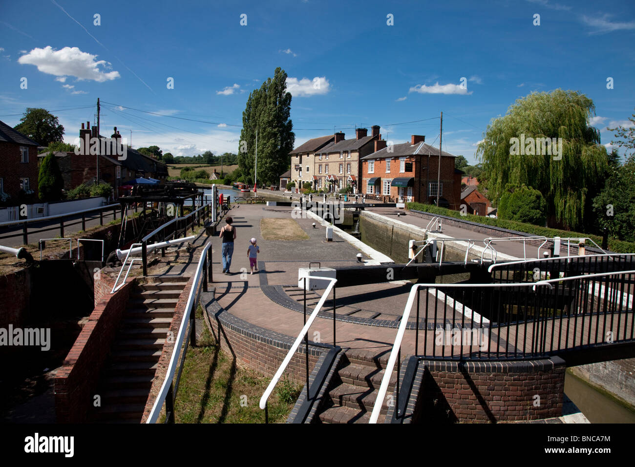 Stoke Bruerne Northamptonshire Grand Union Canal - Stock Image