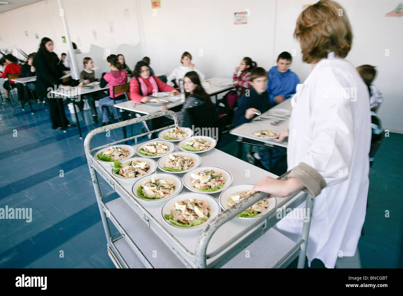 Secondary / junior high school : the canteen - Stock Image