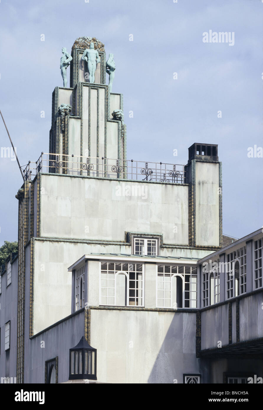 The Palais Stoclet Brussels, Belgium,  designed by Josef Hoffmann (Vienna Secession architect designer)1905-11. - Stock Image