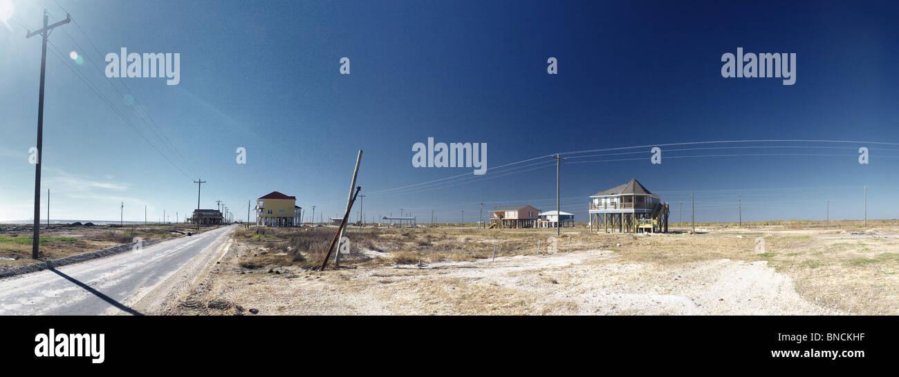 Holly Beach , Louisiana , Reconstruction After Hurricane Rita - Stock Image