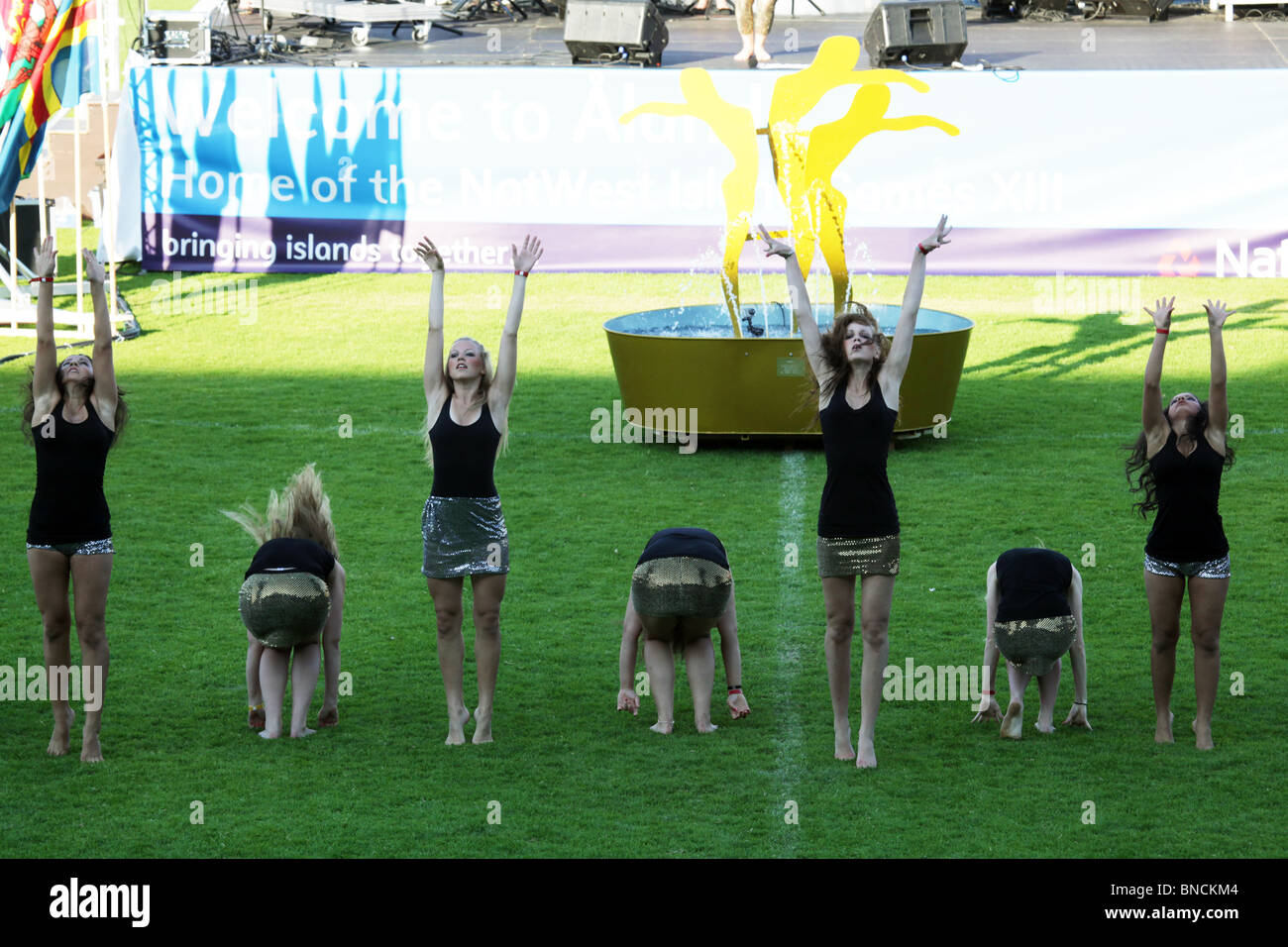 Opening Ceremony of the Natwest Island Games 2009 in Mariehamn in Åland June 27 2009 - Stock Image