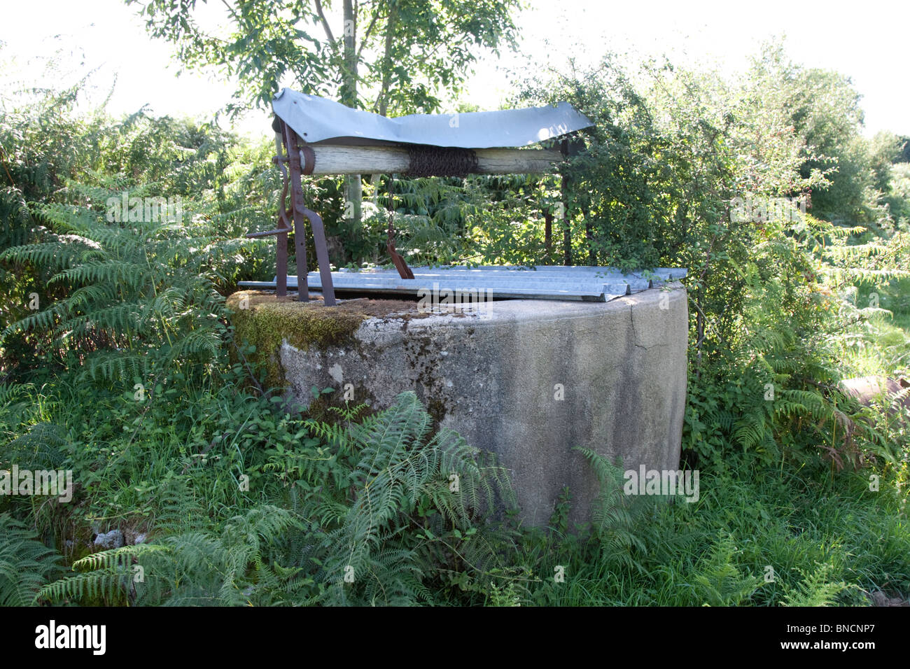 Farm well in the Auvergne, France. - Stock Image