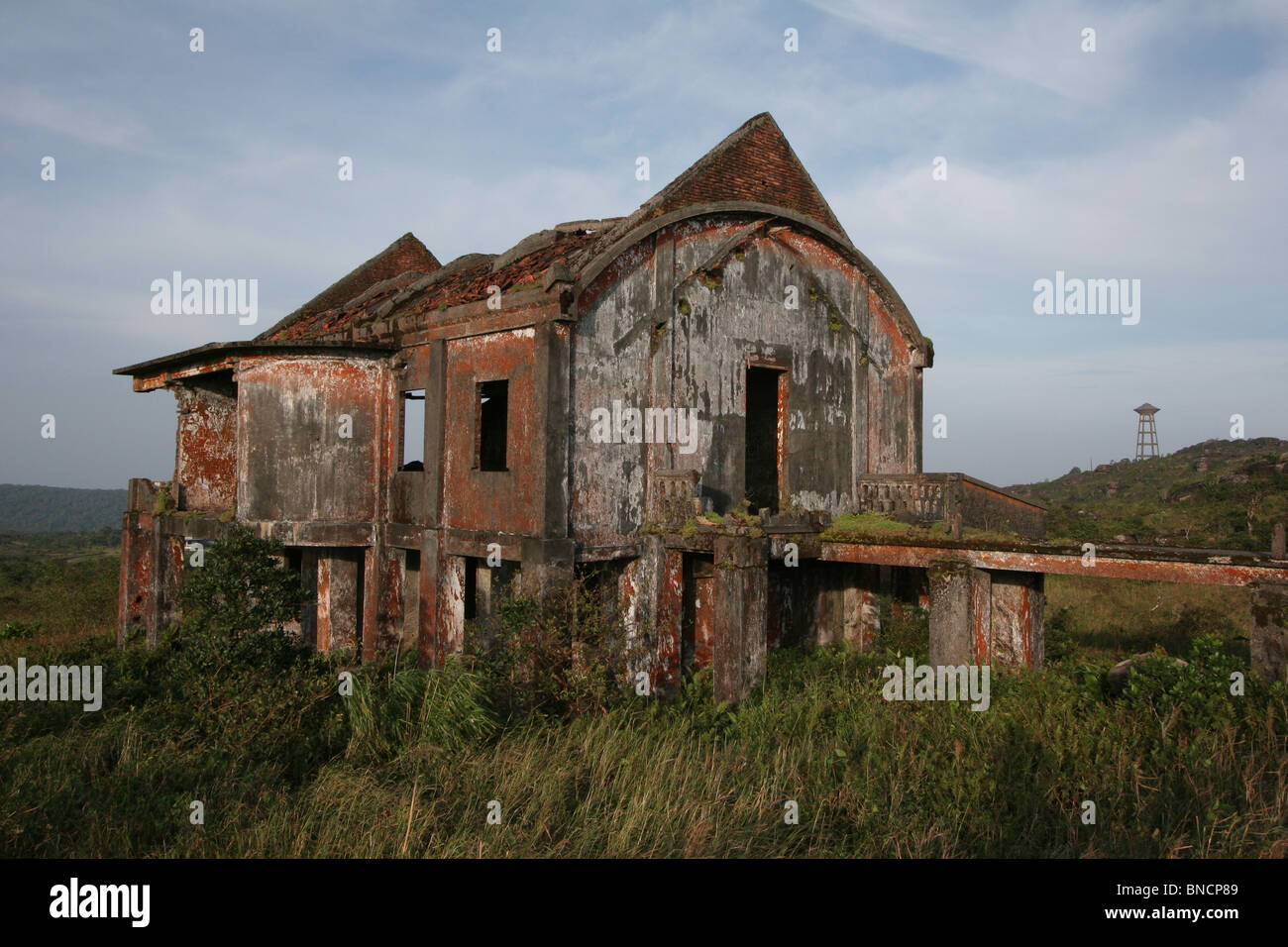 The post office at Bokor Hill Station, Kampot, Cambodia - Stock Image