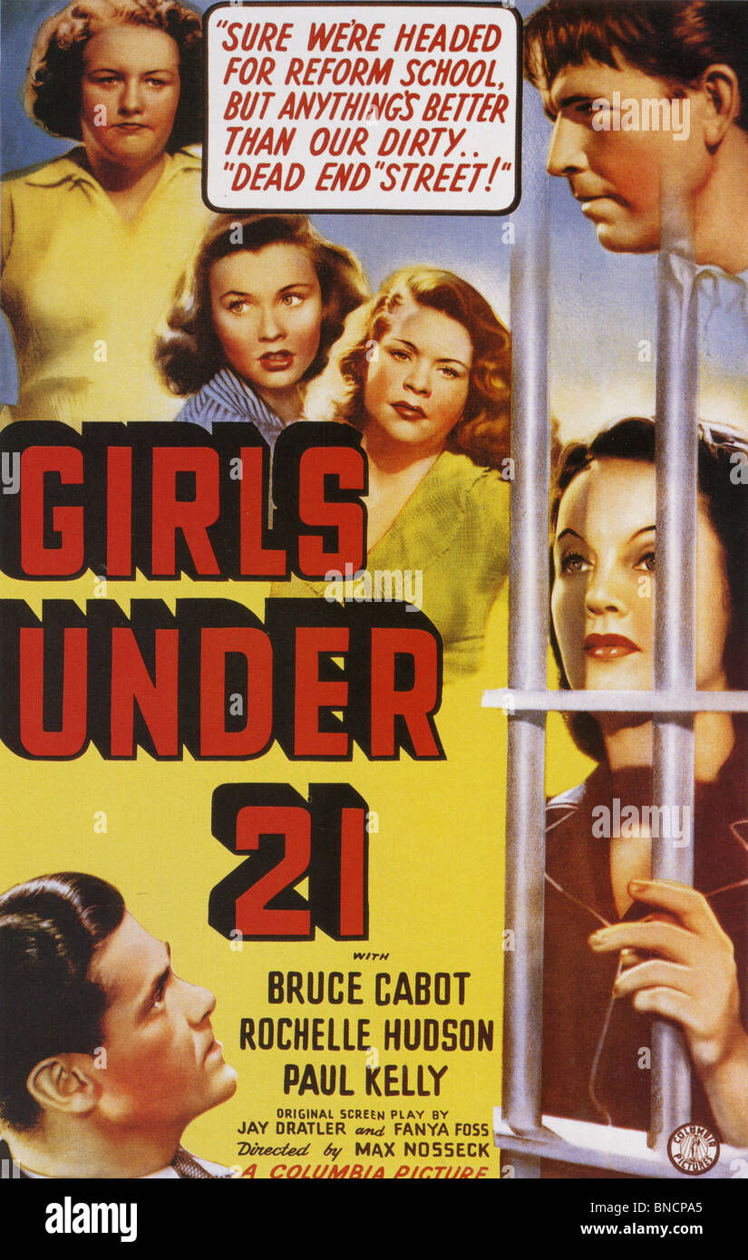 GIRLS UNDER 21 Poster for 1940 Columbia film - Stock Image