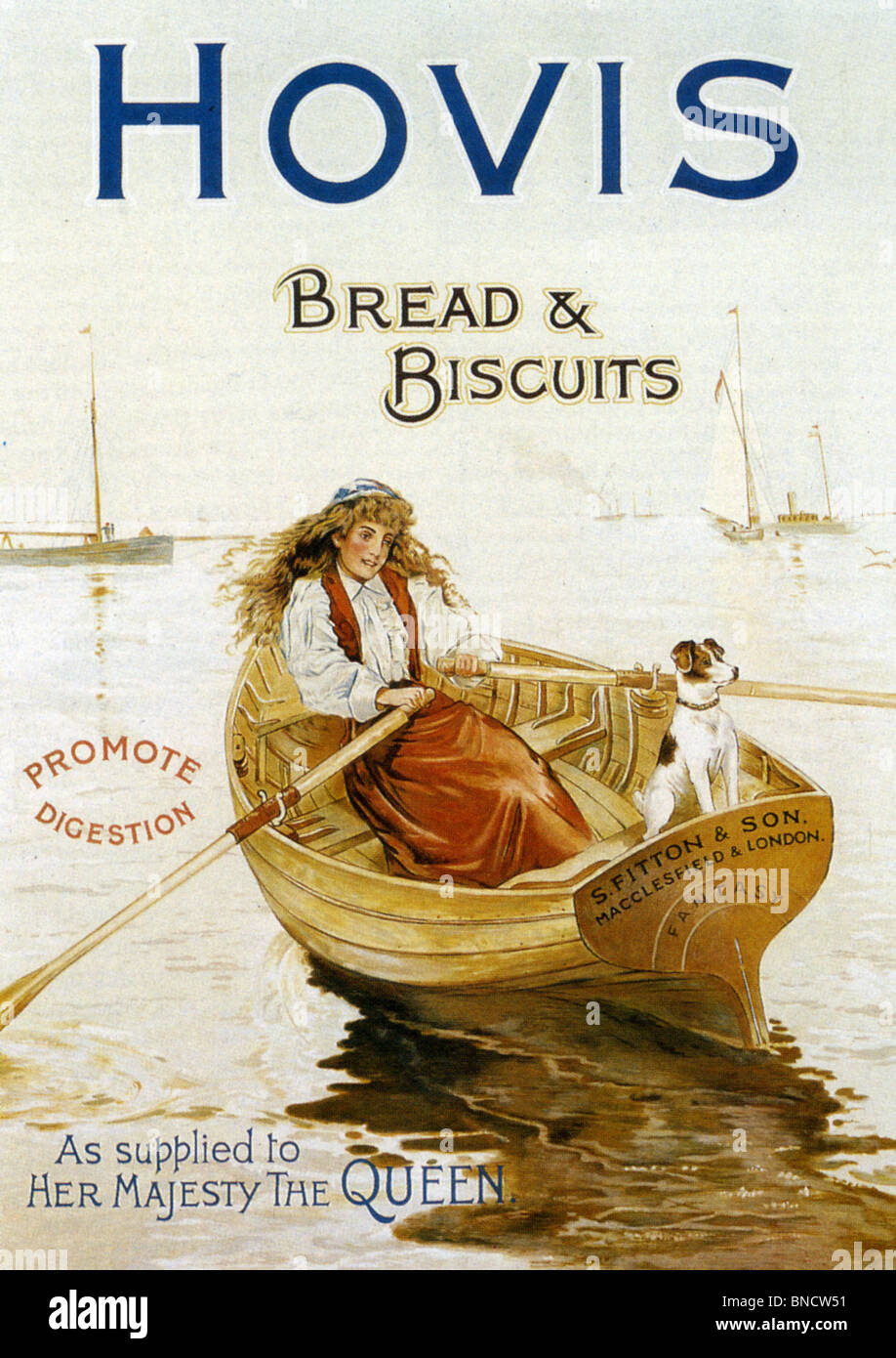HOVIS advert about 1900 - Stock Image
