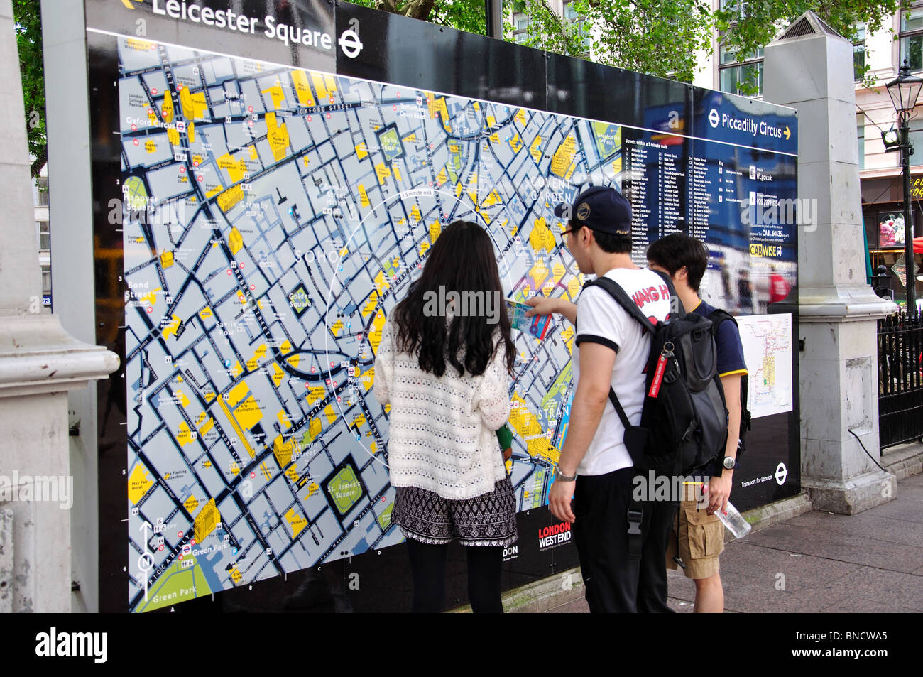 London Tourist Information Map.London Tourist Information Map Leicester Square West End The City