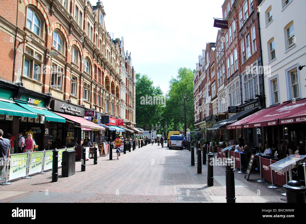 Outdoor restaurants, Irving Street, Leicester Square, West