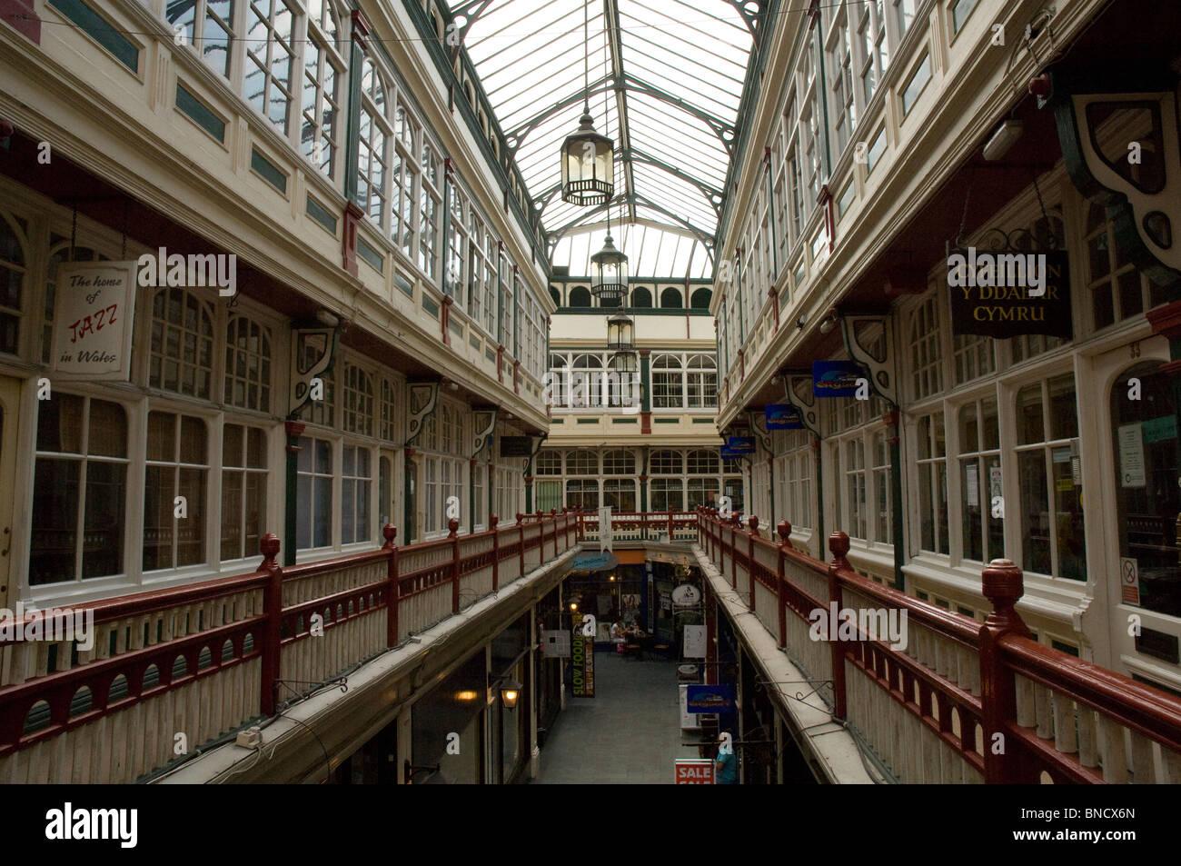 Castle Arcade, Cardiff, Wales, UK, Europe - Stock Image