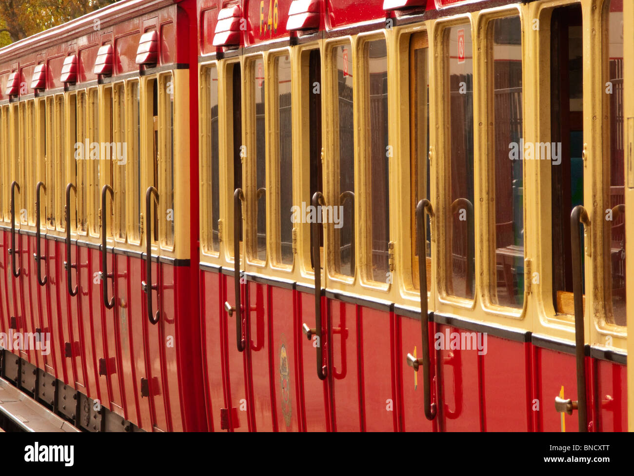 Steam railway carriages, Douglas, Isle of man - Stock Image