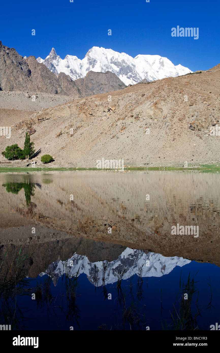 Borith Lake, Passu, Hunza Valley, Pakistan - Stock Image