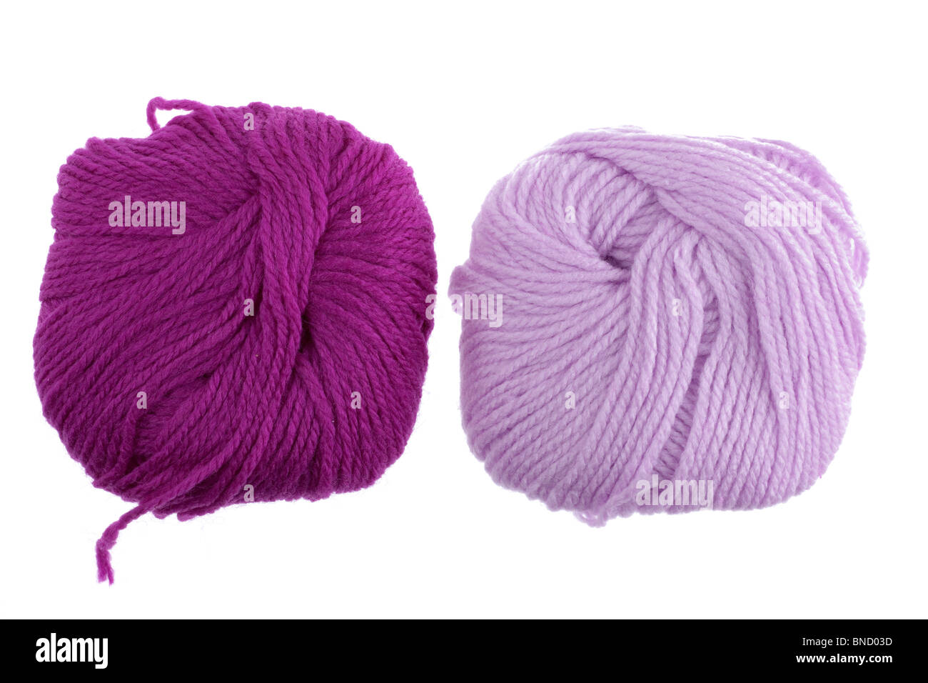 Two balls of wool - Stock Image