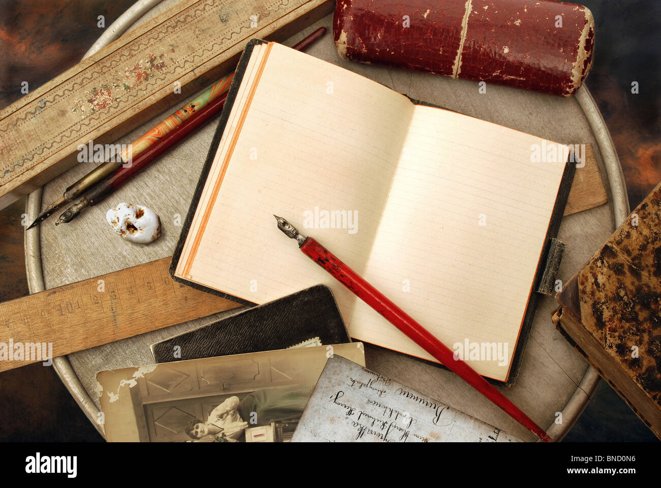 Vintage writing - Stock Image