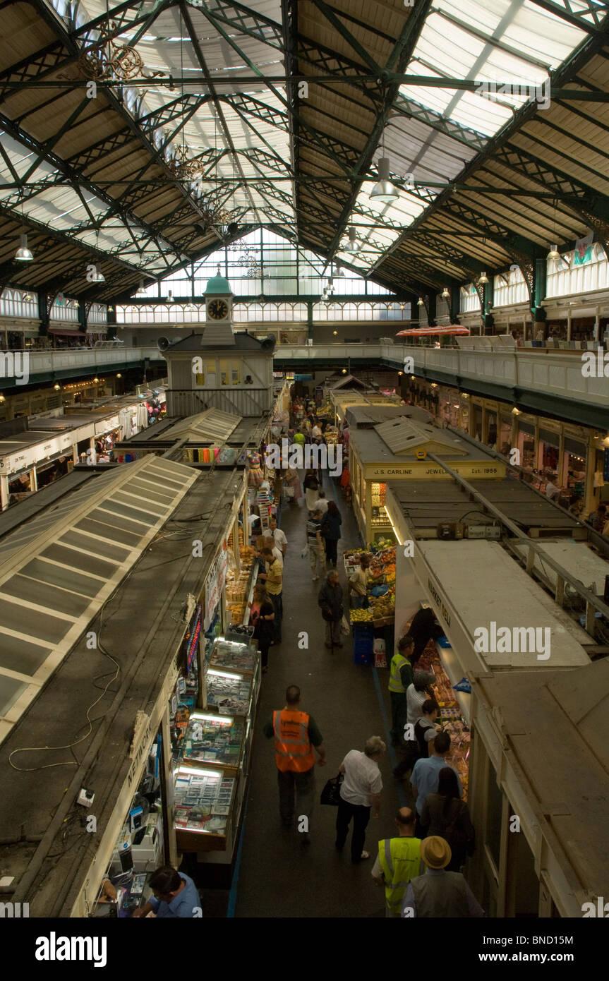 Cardiff Market, Cardiff, Wales, UK, Europe - Stock Image